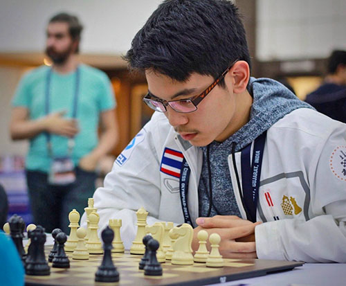 Ryu playing at World Youth Chess Olympiad