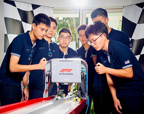 Harrow Bangkok Matrix Racing Team preparing for F1 in Schools