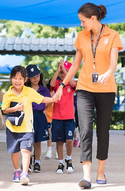 Caring teacher at Harrow Bangkok